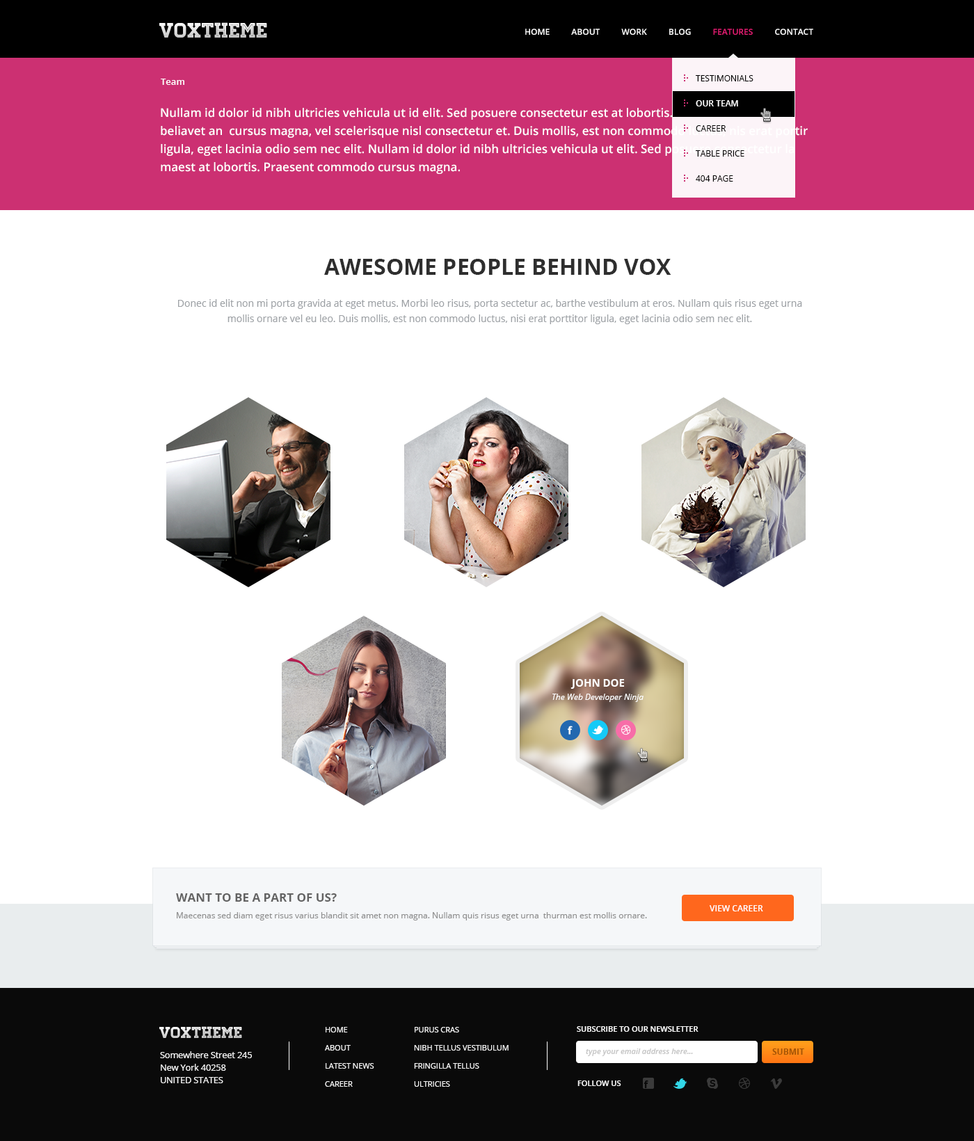Vox - Clean & Modern PSD Template