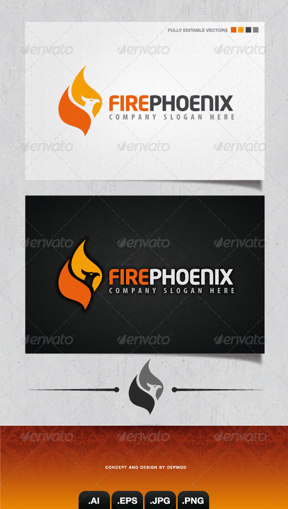 GraphicRiver Fire Phoenix Logo 4184705