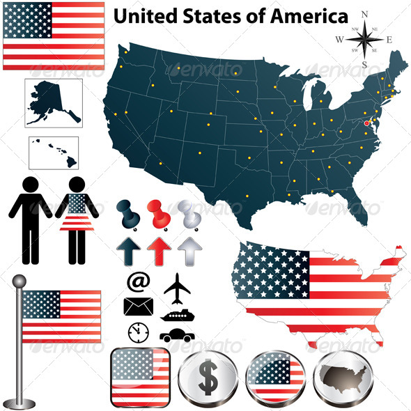 GraphicRiver Map of USA 4184724