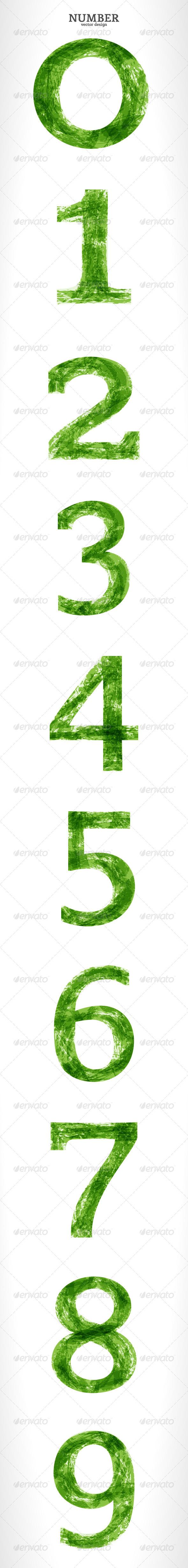 Grunge Vector Number