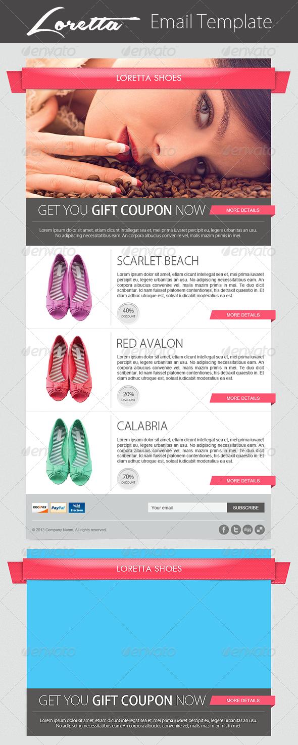 GraphicRiver Loretta Ecommerce Newsletter Template 4103225