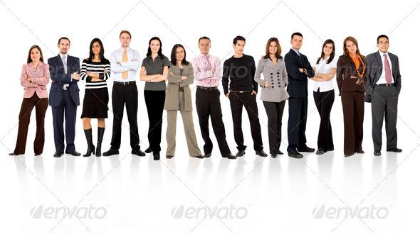 PhotoDune business team standing 452644