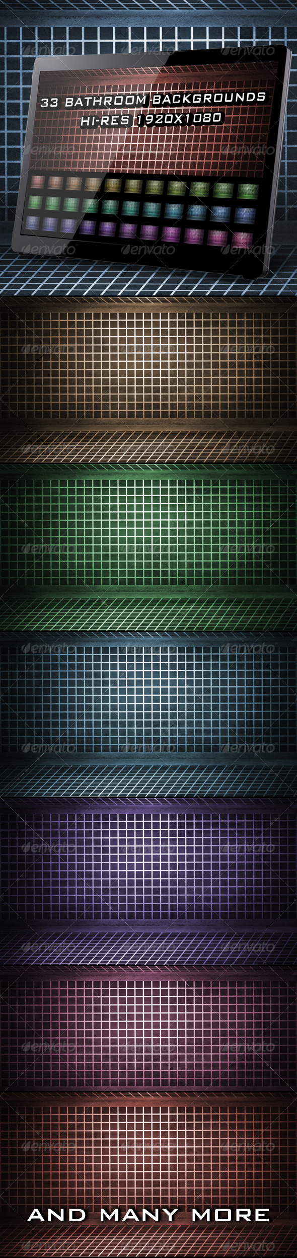 GraphicRiver 33 Bathroom Backgrounds 4099501