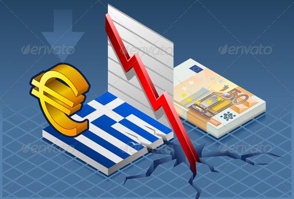 GraphicRiver Isometric Greece Crisis 4185805