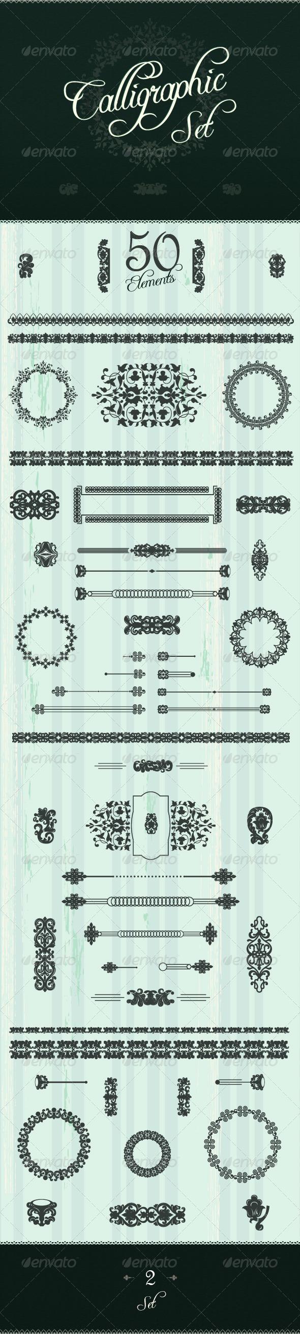 GraphicRiver Art Calligraphic Design Set 4185837