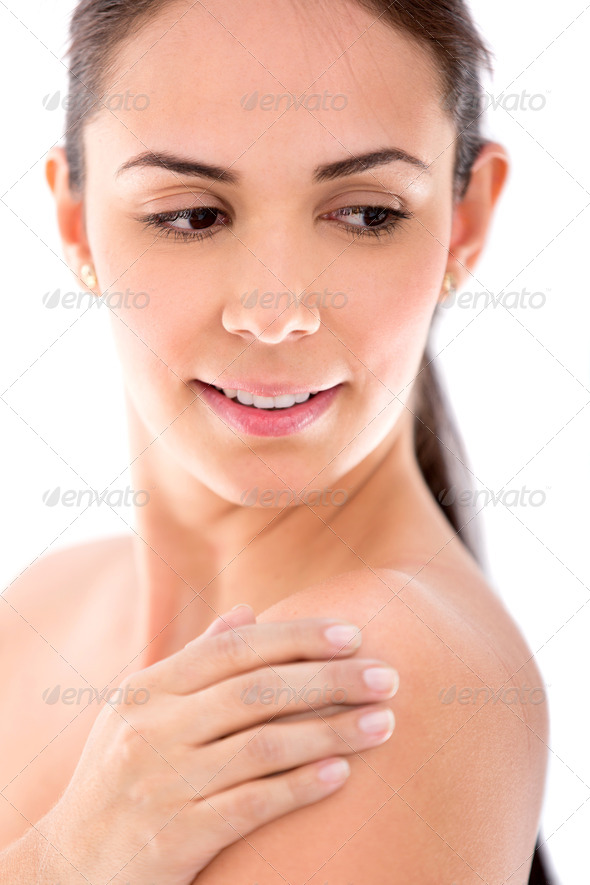 Woman with soft skin - Stock Photo - Images