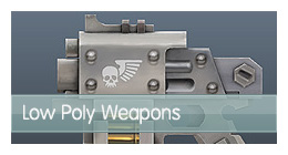 Low-poly-weapons