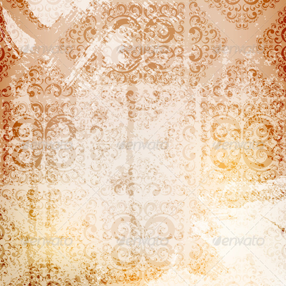 GraphicRiver Grungy Ornamented Background 4186094