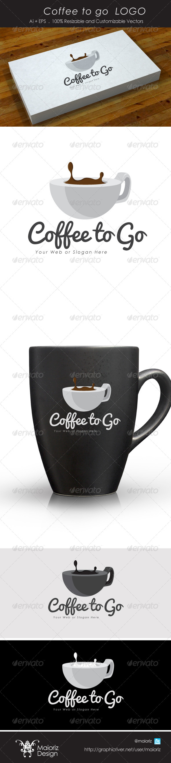 GraphicRiver Coffee To Go Logo 4186464