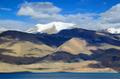Tso Moriri lake and Himalayas