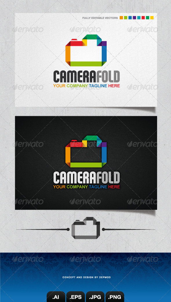 Camera Fold Logo - Objects Logo Templates