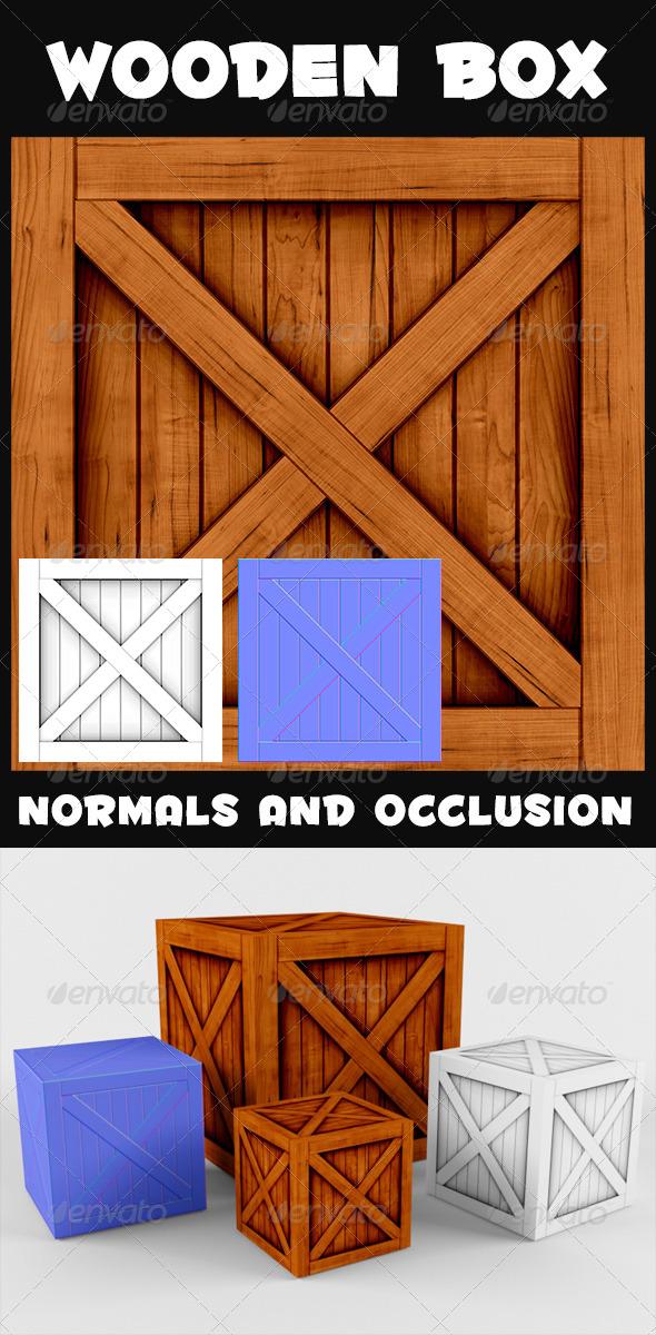 3DOcean Wooden Box Textures 4186863