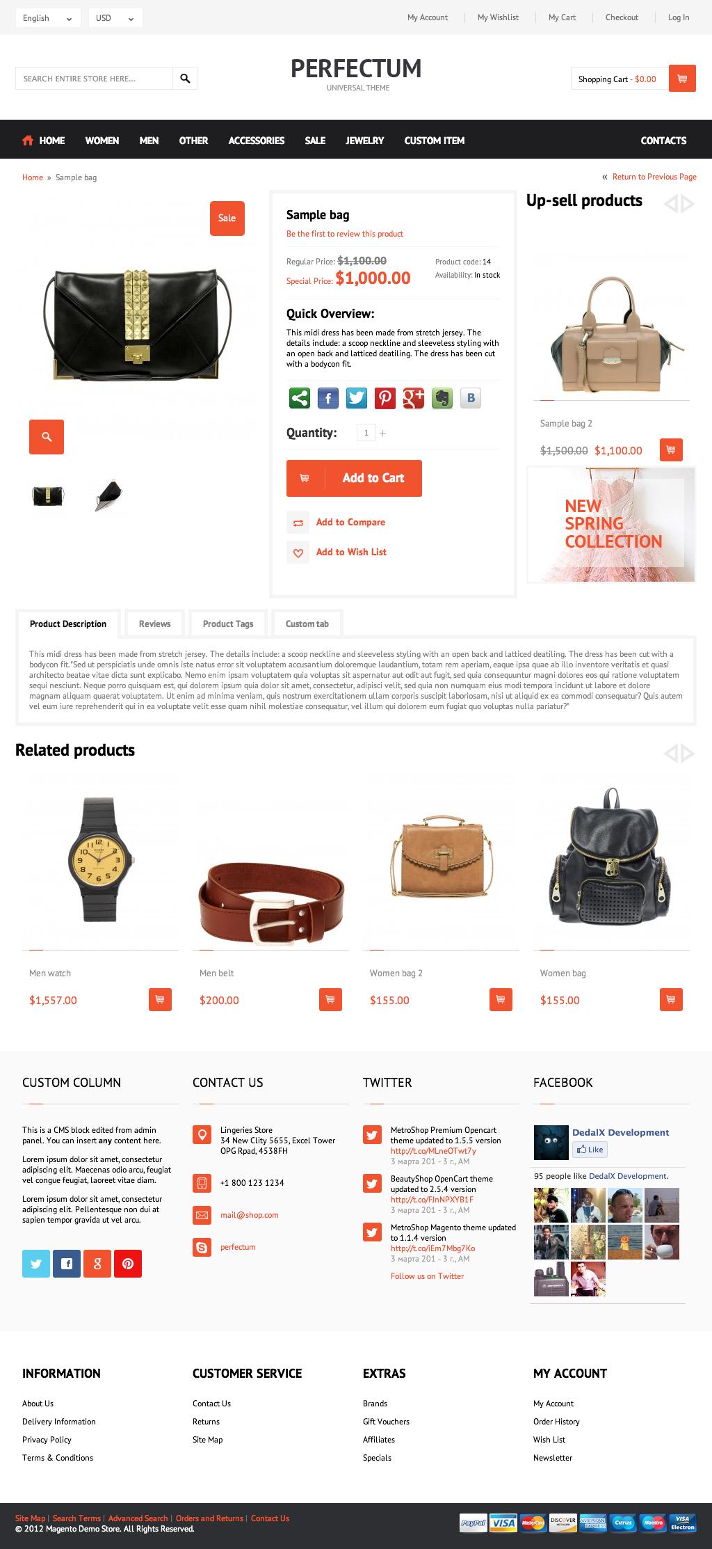 Perfectum – Premium Responsive Magento theme!