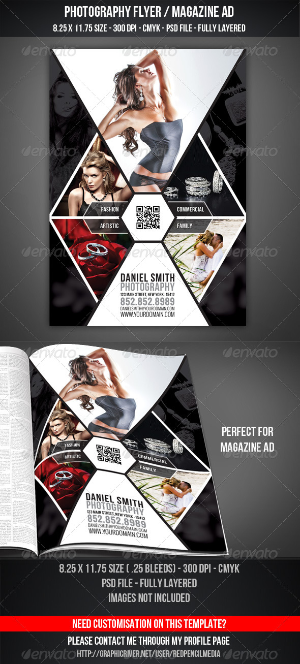 photography flyer magazine ad graphicriver. Black Bedroom Furniture Sets. Home Design Ideas