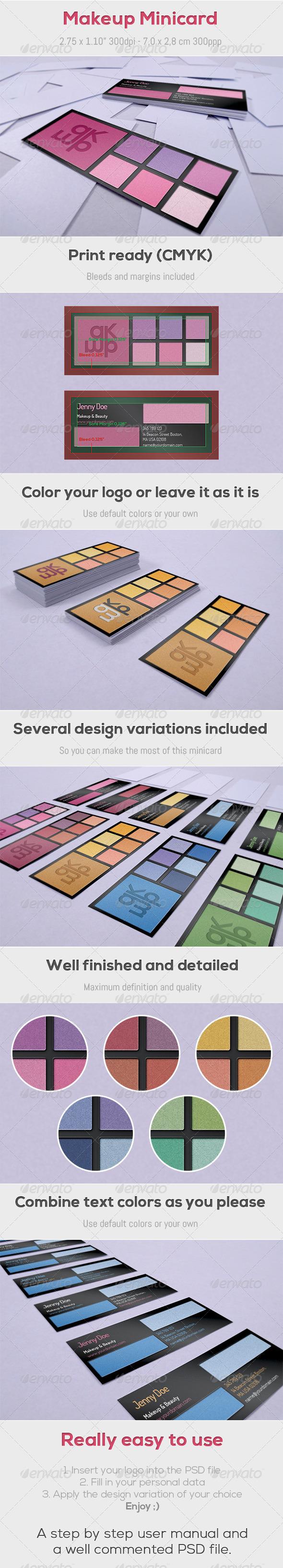 GraphicRiver Makeup Minicard 4187274
