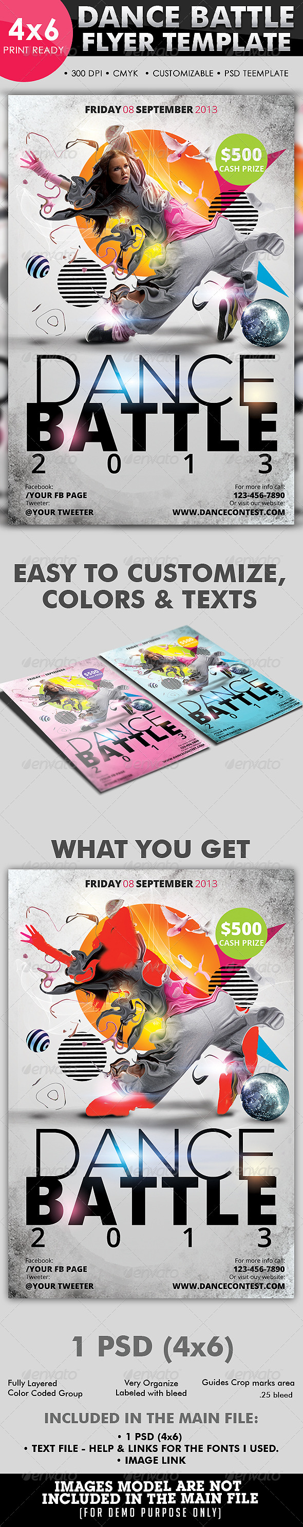 GraphicRiver Dance Battle Flyer Template 4187502
