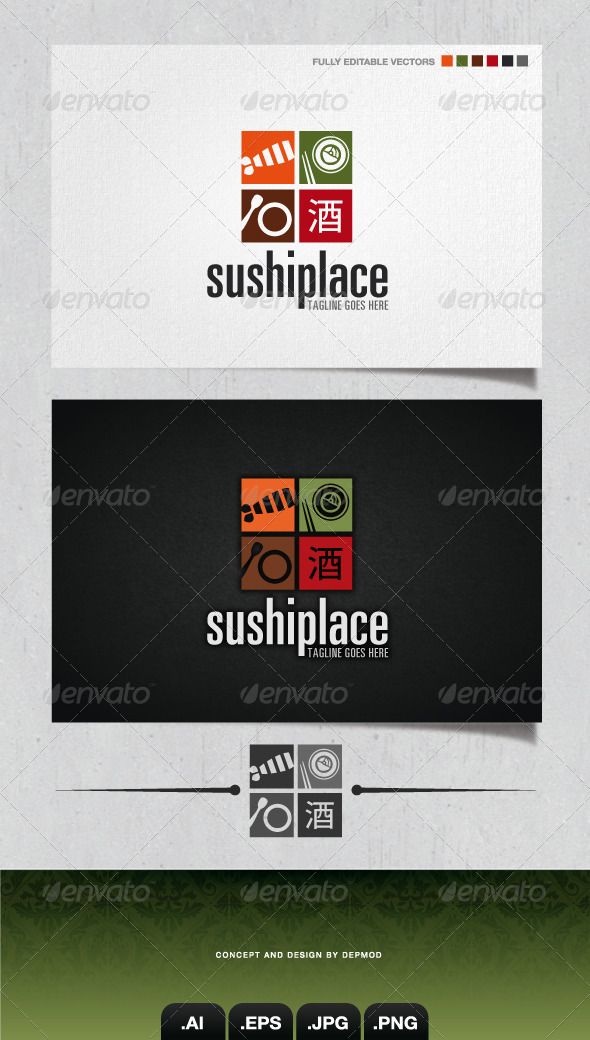 GraphicRiver Sushi Place Logo 4187515