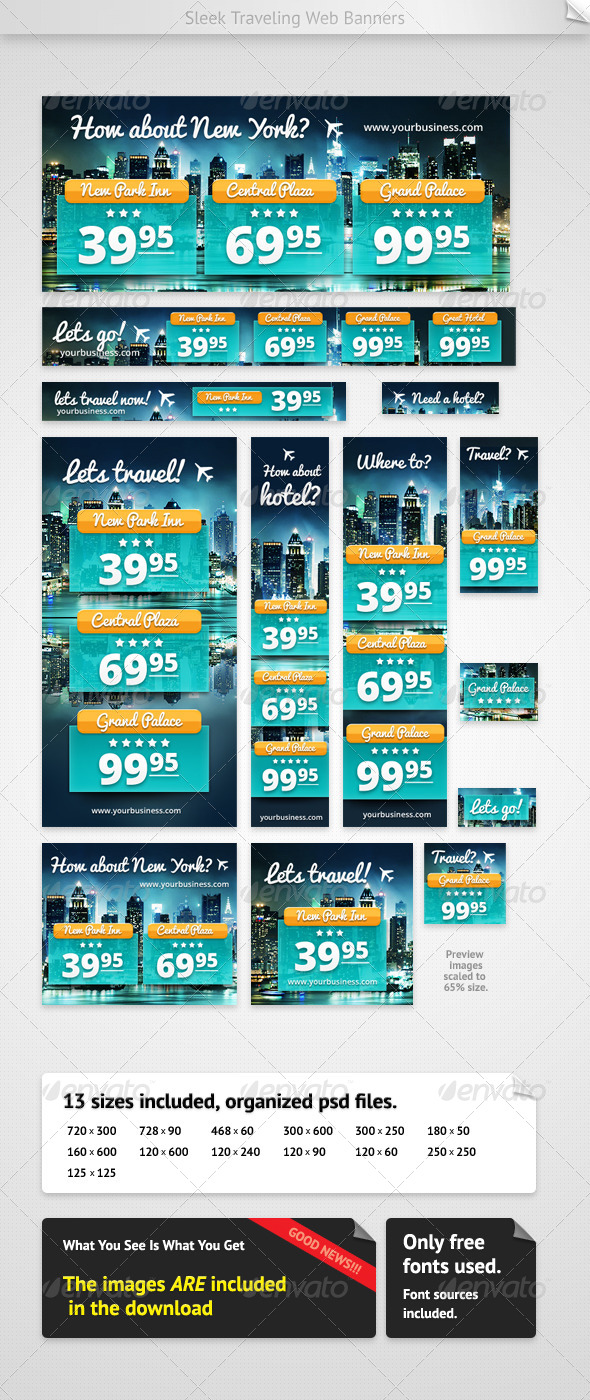 GraphicRiver Hotel Web Banners 4187522