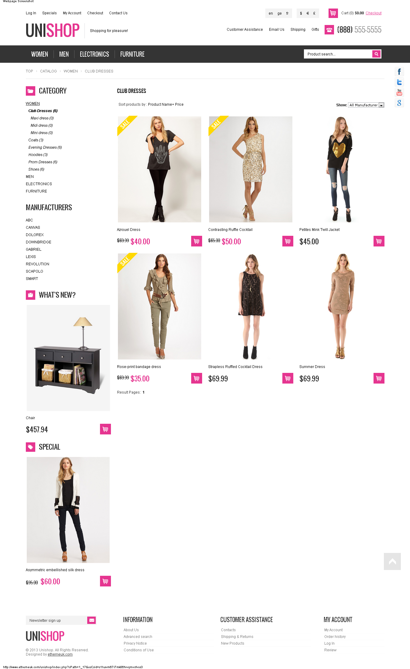 Unishop - Responsive osCommerce Theme