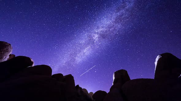 VideoHive Milky Way and Rocks in Joshua Tree National Park 19148732
