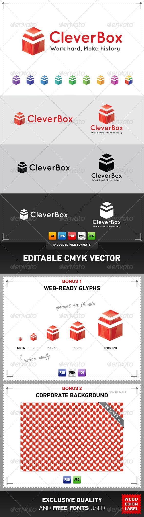 GraphicRiver Clever Box Logo 4079165