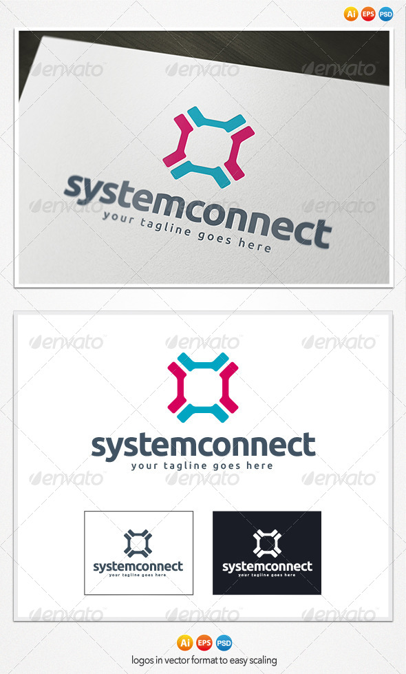 GraphicRiver System Connect Logo 4188889
