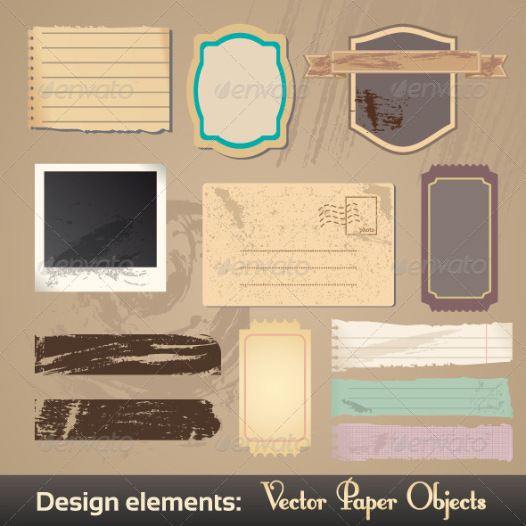 GraphicRiver Vector Vintage Labels 4078794