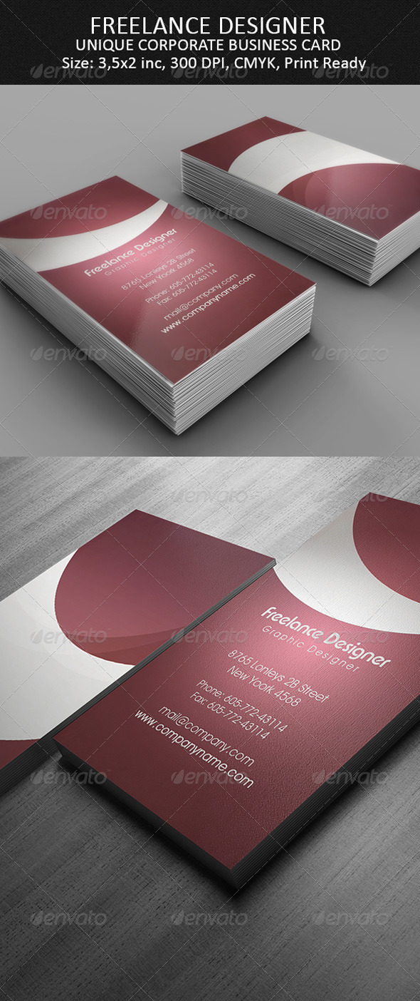 GraphicRiver Freelance Designer Business Card 4188895