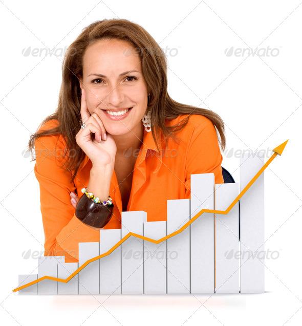PhotoDune business woman success 453055