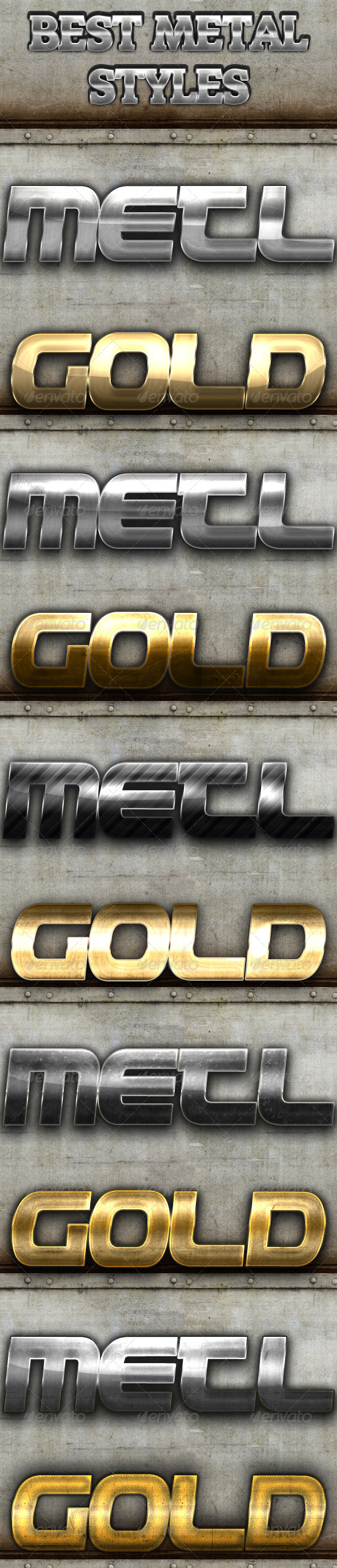 GraphicRiver Best Metal Styles 4114267