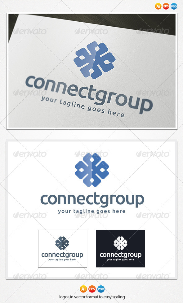 GraphicRiver Connect Group Logo 4189150