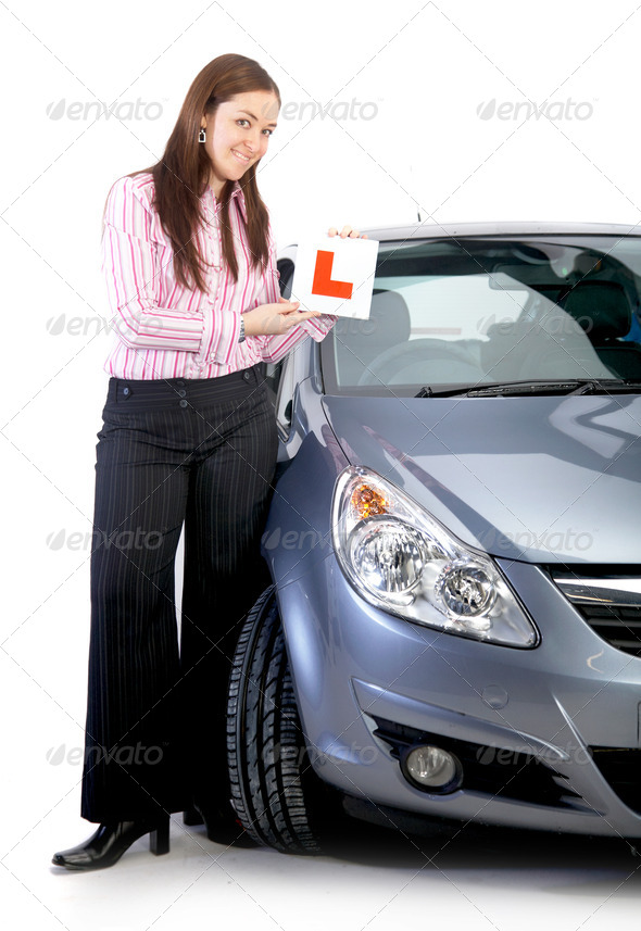 learning driver - Stock Photo - Images