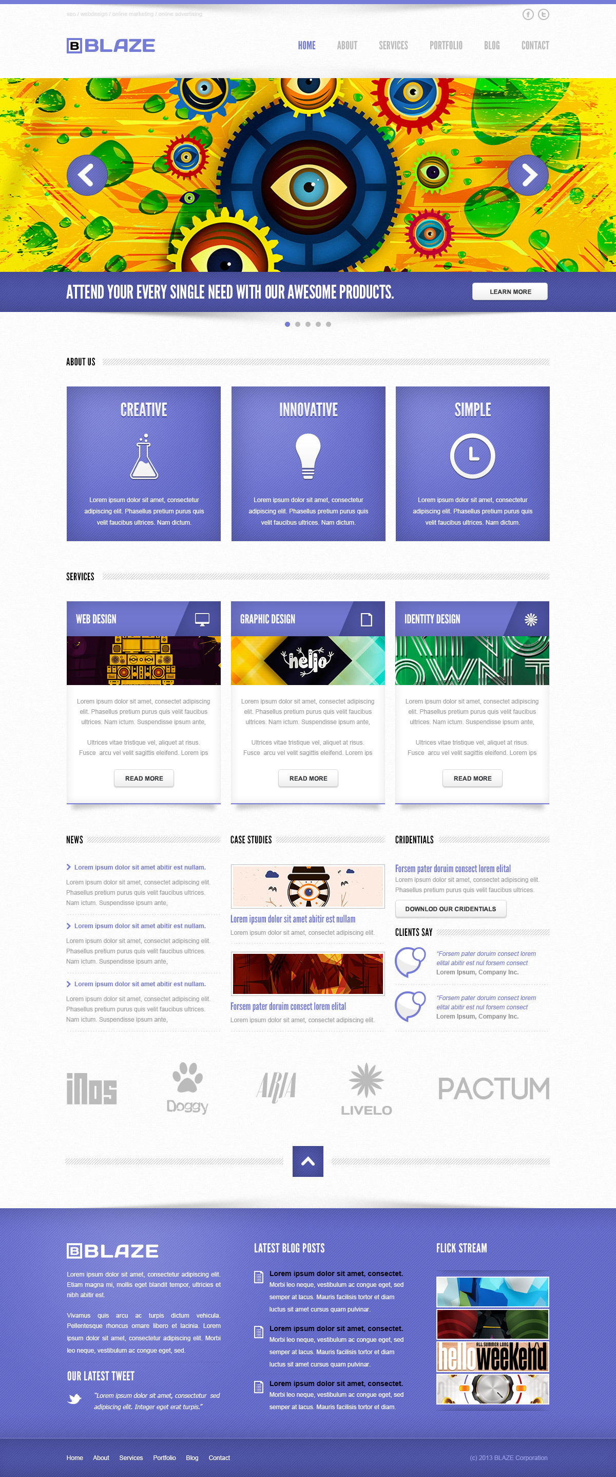 Blaze Corporate PSD Template
