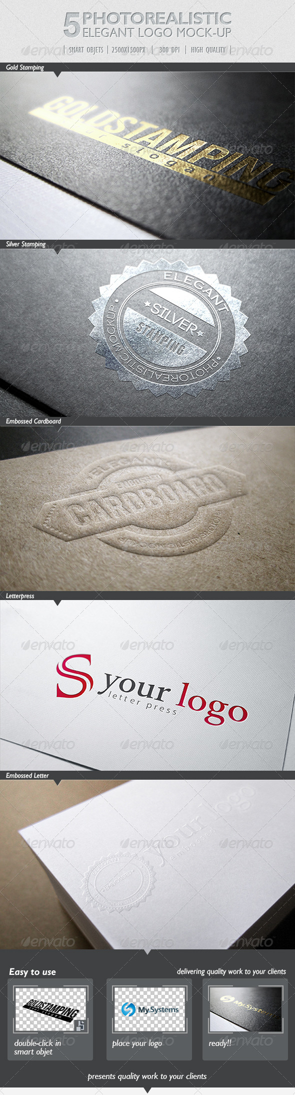 GraphicRiver 5 Photorealistic Logo Mock-Up Pack 1 4189212