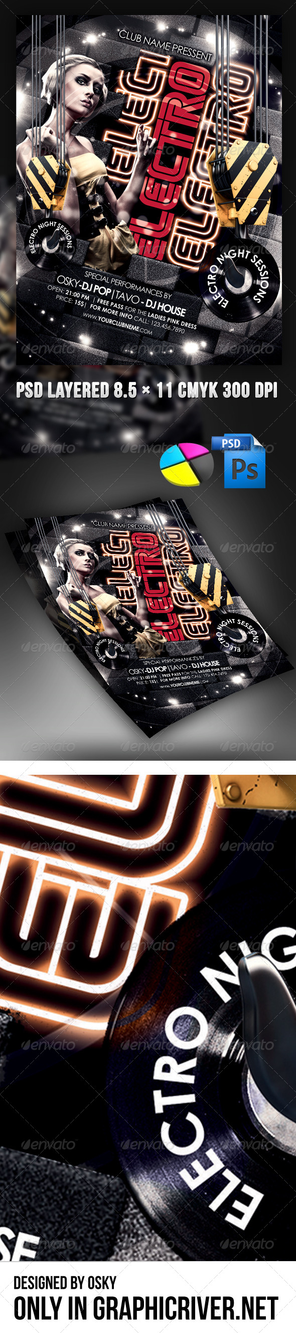 GraphicRiver Electro Night Sessions 4189216