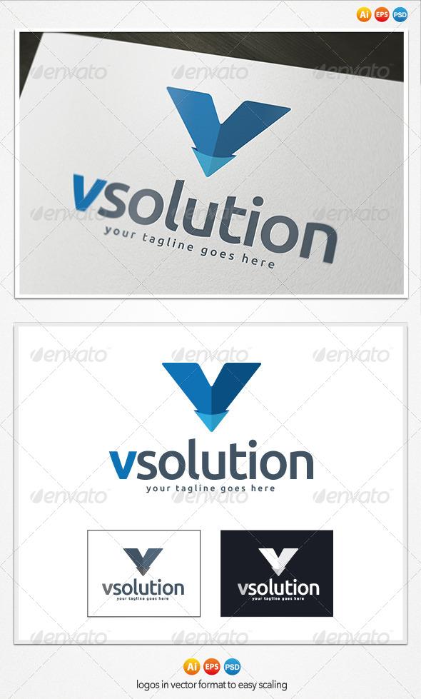 GraphicRiver V Letter Logo 4189224