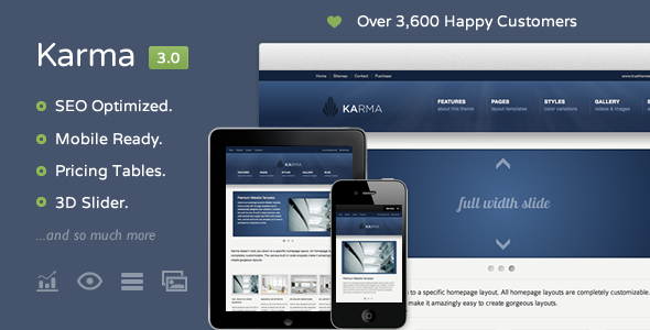 Karma - Clean and Modern Website Template - Corporate Site Templates