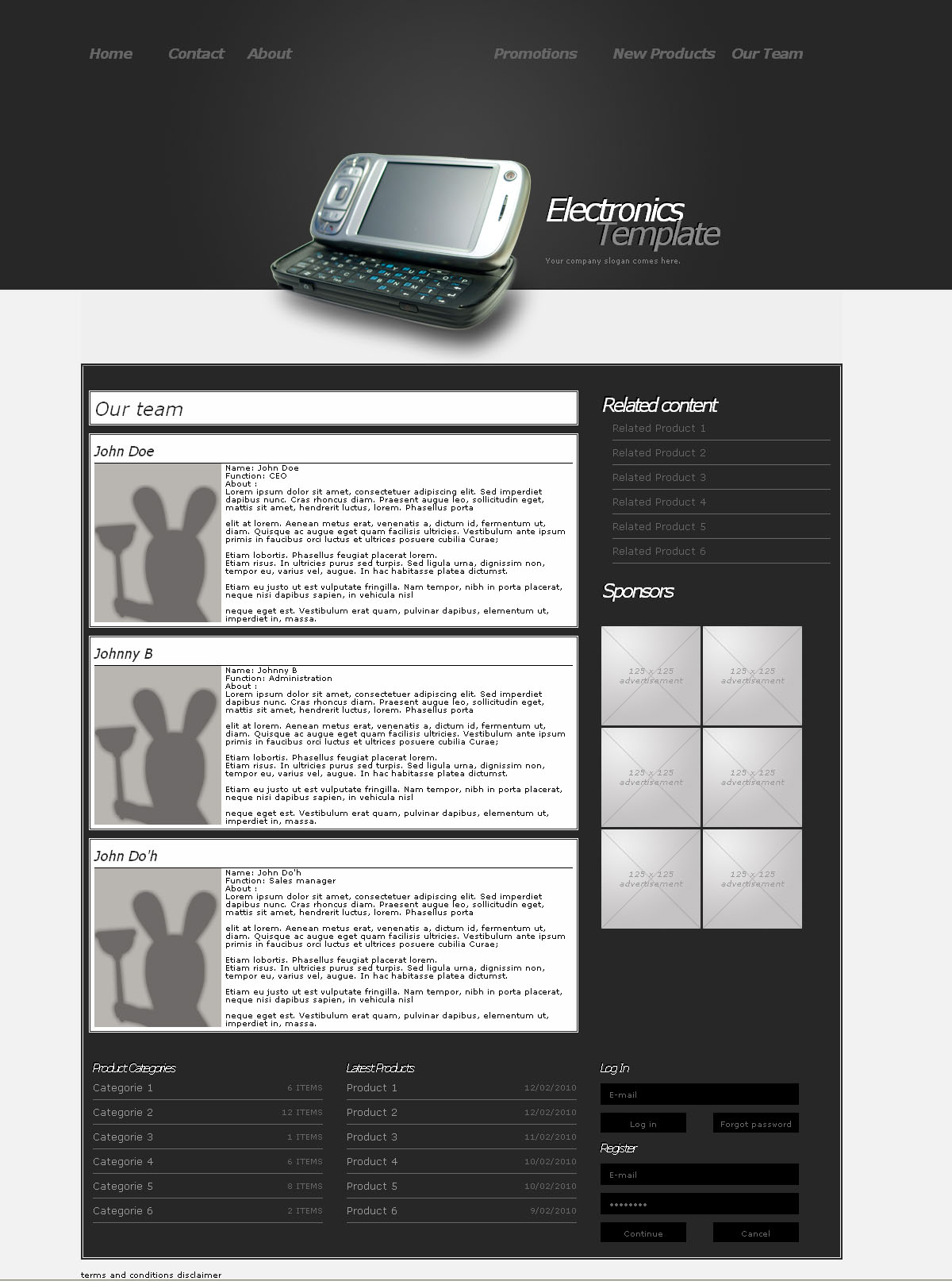 Kay_B.elektronics - This is another page with multiple easy to customize content blocks.