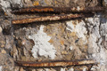 Close up of rusted metal rods inside of concrete - PhotoDune Item for Sale