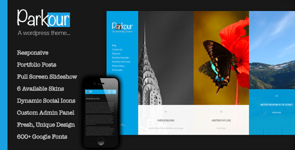 ThemeForest Parkour Unique Horizontal Layout With Options 4048140