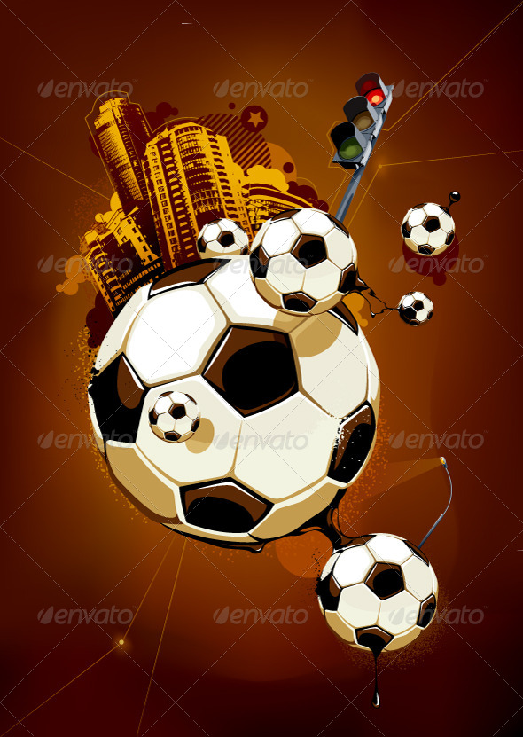 GraphicRiver Abstract Image of Soccer Balls 4190725