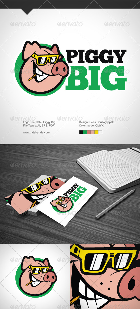 Piggy Big - Food Logo Templates