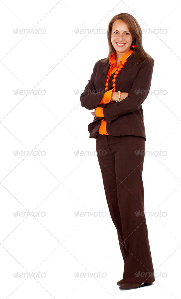 business woman standing up - Stock Photo - Images