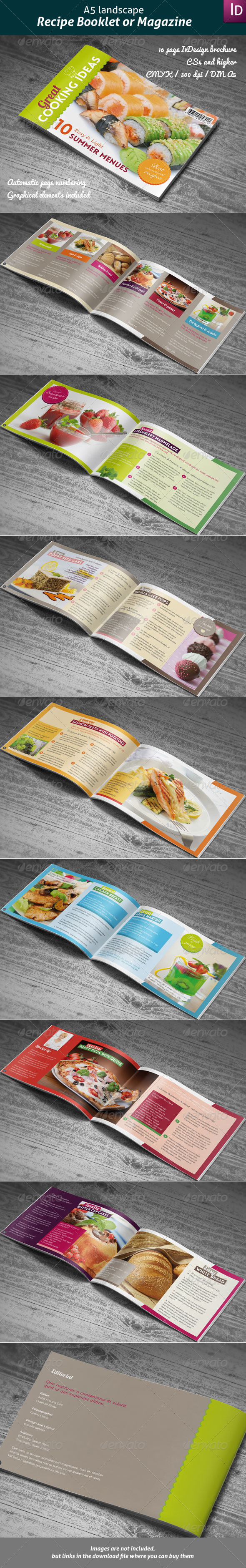 GraphicRiver Recipes Booklet or Magazine 4191377