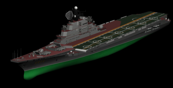 3DOcean Kiev Heavy Aircraft Carrier Cruiser 4191629