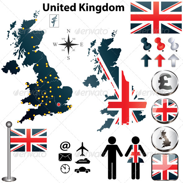 GraphicRiver Map of United Kingdom 4191883