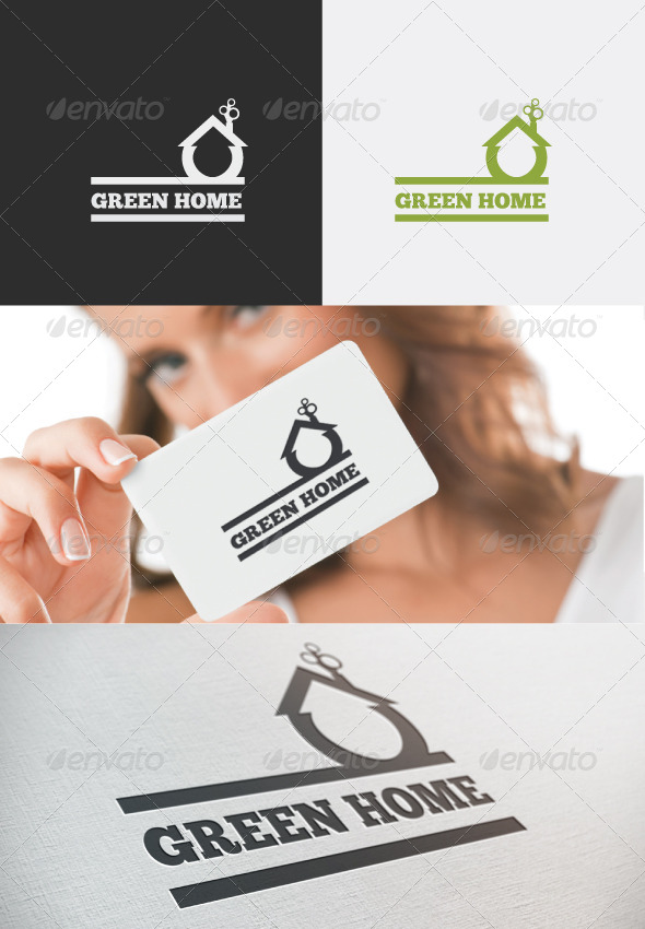 GraphicRiver Green Home Logo 4191888