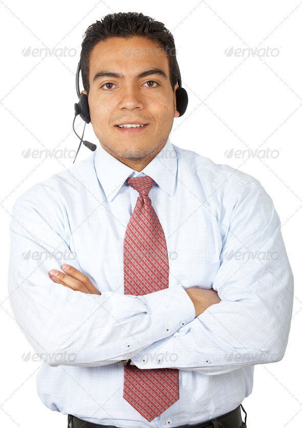Customer service representative - Stock Photo - Images