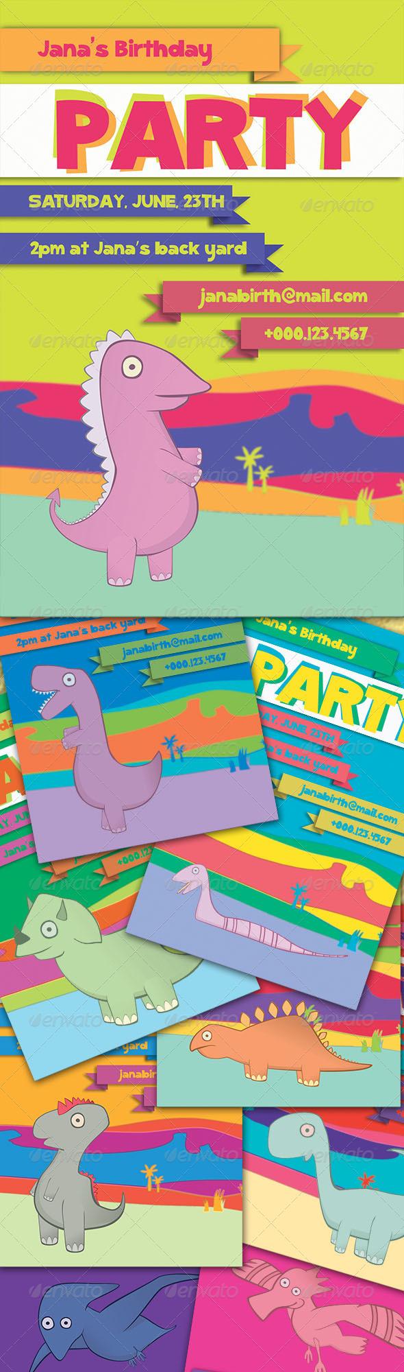 GraphicRiver Dinosaur Flyer 3861335