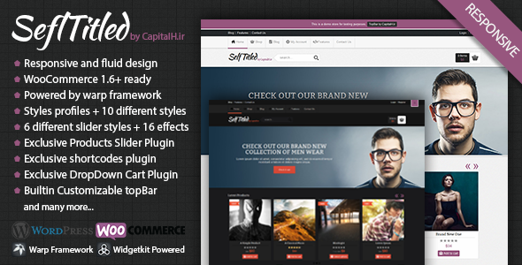 ThemeForest SelfTitled Responsive eCommerce WordPress Theme 4164960